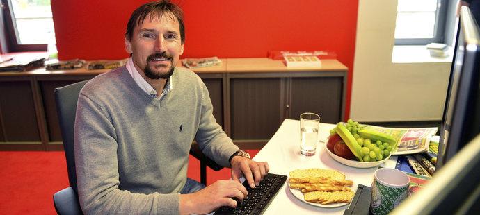 Bývalý brankář Martin Vaniak v redakci deníku Sport