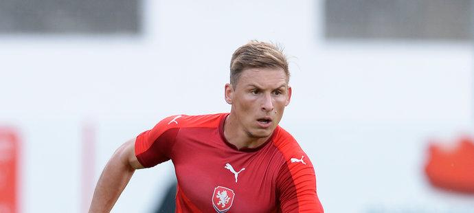 Michal Hubínek v dresu reprezentace do 21 let