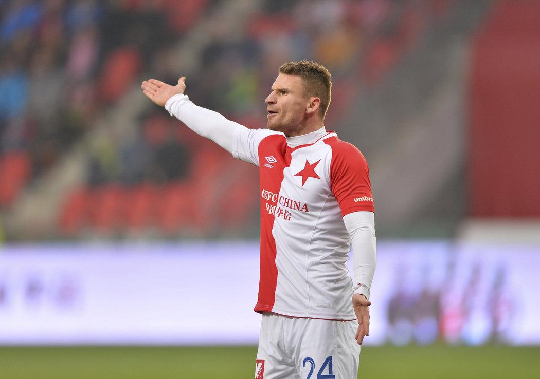 Muris Mešanovič v zápase proti Mladé Boleslavi