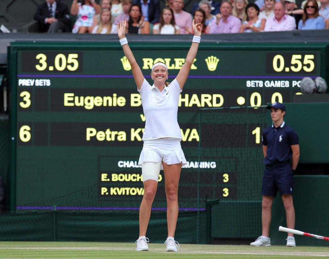 Petra Kvitová slaví svůj druhý wimbledonský titul