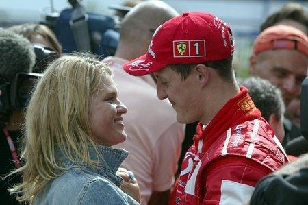 Michael Schumacher se svojí ženou Corinnou