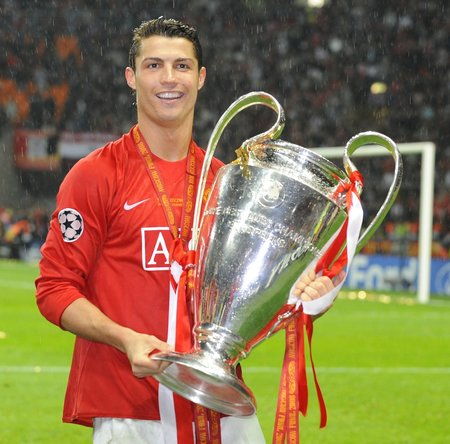 Cristiano Ronaldo v dresu Manchesteru United