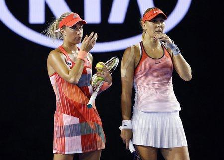 Česká tenisová dvojice první set těsně prohrála