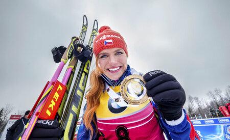 """""""Představovala jsem si, že jedu trénink,"""" řekla po vítězství ve sprintu Gabriela Soukalová"""