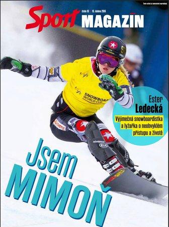 Titulní strana pátečního vydání Sport Magazínu