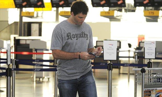 Jaromír Jágr na letišti v Ruzyni