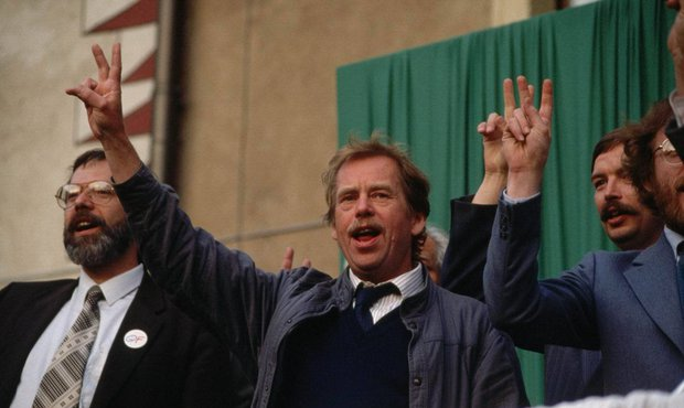 Václav Havel v lednu 1990