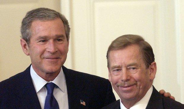 Václav Havel s Georgem Bushem, tehdejším americkým prezidentem