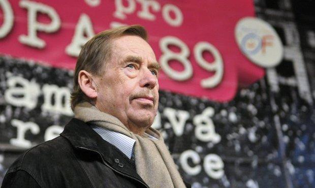 Václav Havel v roce 2009 na výročí sametové revoluce v Brně