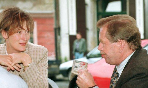 Václav Havel s Meryl Streep v roce 1994