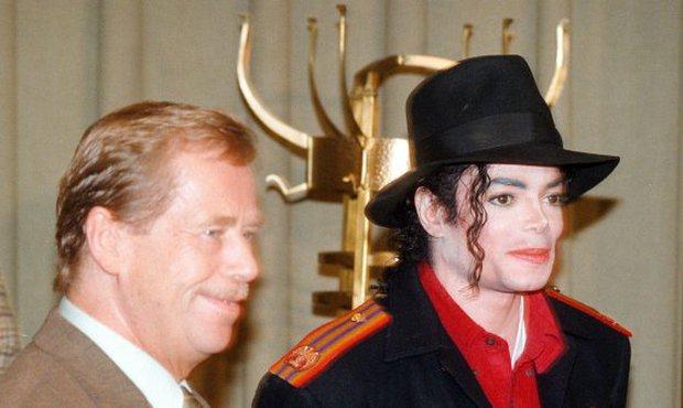 Václav Havel a legenda popu, zpěvák Michael Jackson