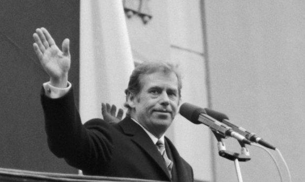 Václav Havel 29. prosince v roce 1989