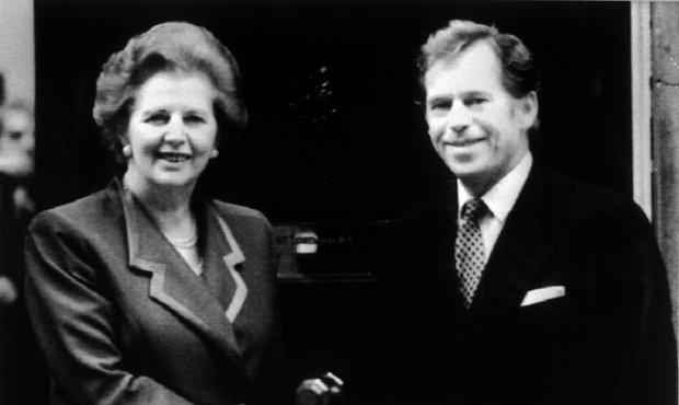 Václav Havel s Margareth Thatcher v roce 1992