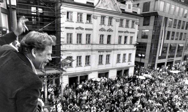 Havel v roce 1989