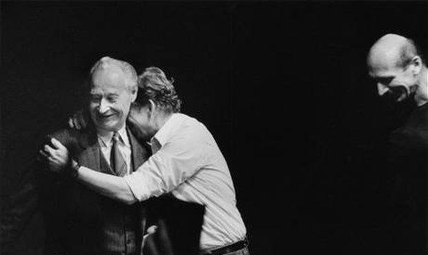 Havel s Dubčekem v listopadu 1989