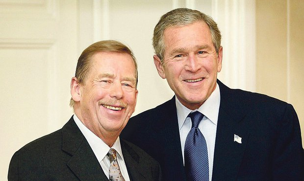 Václav Havel a George Bush
