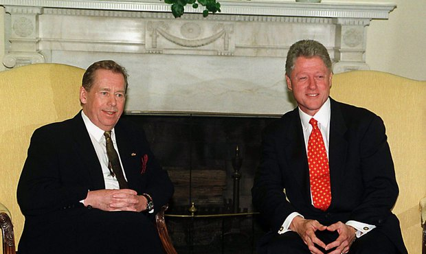 Václav Havel s Billem Clintonem
