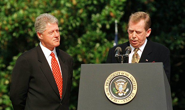 Václav Havel a Bill Clinton