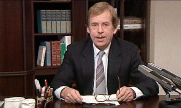 Václav Havel při novoročním projevu