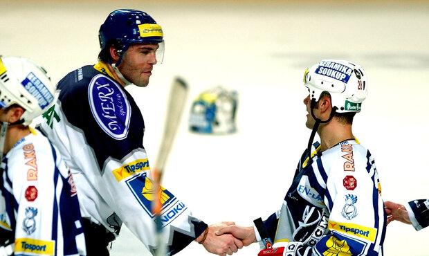 Jágr se Strakou se v dresech Kladna a Plzně utkali během výluky v NHL během sezony 2004/2005