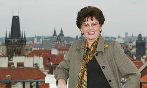 Ája Vrzáňová, bývalá krasobruslařka, Prahu navštěvovala pravidelně.