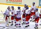 Česká radost po výhře v nájezdech
