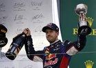 Příští rok bude Vettel už slavit v červených barvách.