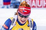 Biatlonistka Gabriela Soukalová v cíli