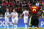 Střelec Krmenčík zatápěl hvězdám Belgie: Lukakův dres zarámuju