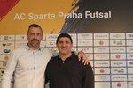 Nová důležitá dvojice futsalové Sparty: marketingový ředitel Jaromír Blažek a trenér Beni Simitči