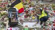 Uctění památky obětí teroristických útoků v Bruselu