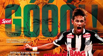 Červnový Sport Góóól!: pět plakátů, Neymar v Barceloně, Ferguson, Cavani