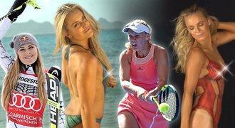 Skandálně nahé hvězdy! Lyžařce Vonn i tenistce Wozniacki namalovali plavky