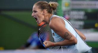 Plíšková je v Indian Wells ve čtvrtfinále, Strýcová vzdala