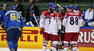 Česko - Kazachstán 3:1. Dvěma góly rozhodl Plekanec, čtvrtfinále je jisté