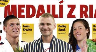 Deník Sport tipuje: Češi z Ria přivezou DEVĚT medailí, z toho tři zlata
