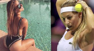 Tenistka Cibulková ukázala výstavní zadeček. Fotil manžel, chlubila se