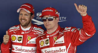 Kvalifikaci v Soči ovládlo Ferrari, vyhrál Vettel před Räikkönenem