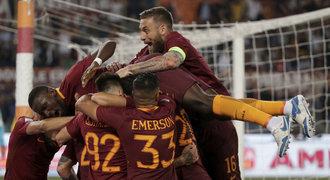 AS Řím vyhrál přestřelku a ještě oddálil korunovaci Juventusu