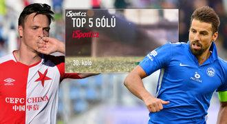 Top 5 gólů 30. kola: Na závěr ligy střílel Baroš a slávisté Tecl a Ngadeu