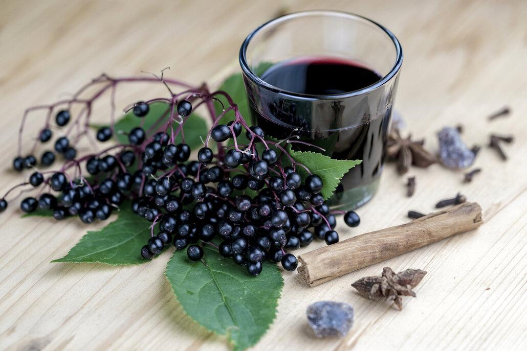 Přírodní likér vyrobený z bobulí černého bezu