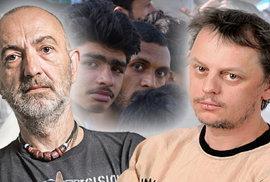 Záchodový duel Jandourka s Doležalem: Poslat uprchlíky do bojů?