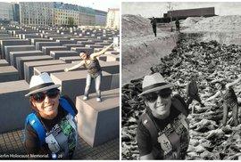 Konec selfíček u Památníku holocaustu? Unikátní projekt upozorňuje na nevhodné fotky turistů