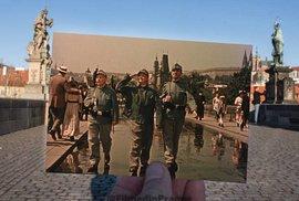 Hit internetu: Fotí Prahu a do snímků vkládá záběry z filmů, které se tu točily.…
