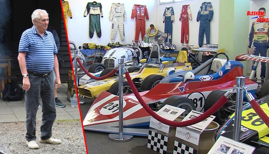 Do Lán nejen za Zemanem: Domov tu mají i stará sportovní auta