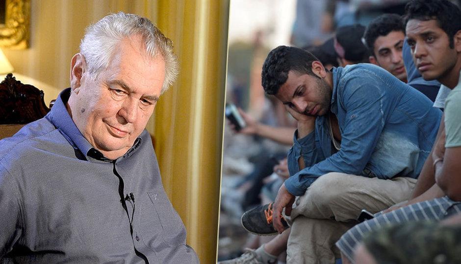 Zeman opakuje: Uprchlíky odsuňte na řecké ostrovy, potraviny se tam dovezou