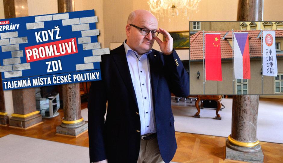 Ministr kultury Herman pracuje z ložnice: Do výhledu mu pověsili čínské vlaky. Provokace?