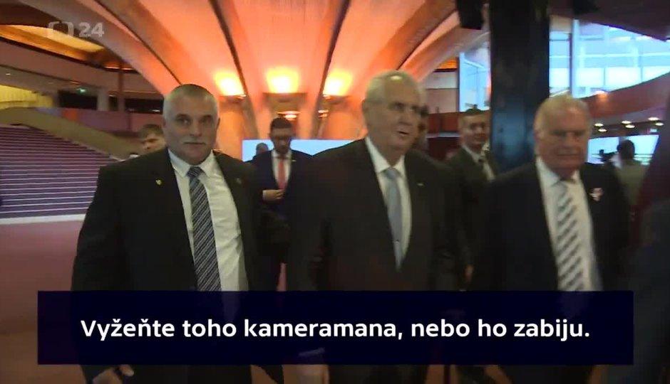 """""""Vyžeňte ho, nebo ho zabiju."""" Zeman hrozil drsně novináři"""