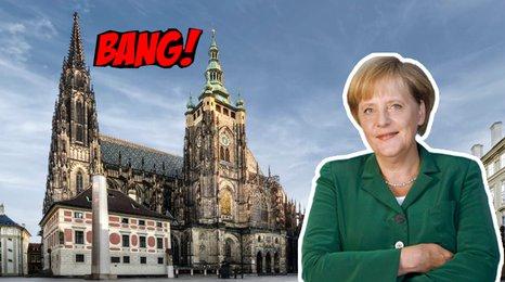 Bang! Český fanoušek Merkelové! Chtěl ji pozvat na rande. Přijala?