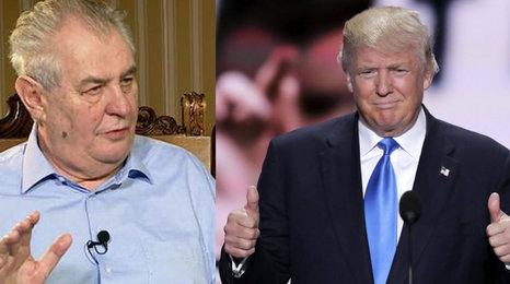 Zeman: Trumpa bych volil, ale kampaň mu nedělám